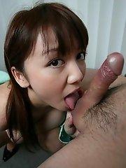 Meguru Kosaka sucking some dick