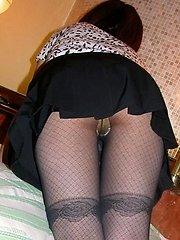 Naughty Asian tramp is taking off her panties