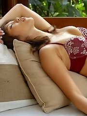 Asian lesbian model has a sexy pair of tits