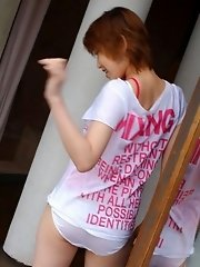 Innocent Asian babe is a cutie who shows off