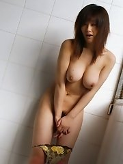 Hot Asian model shows off her hot body