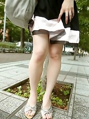 Mio sexy Asian teen maid shows off