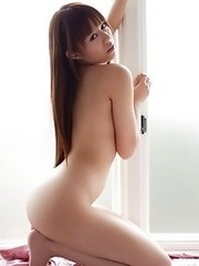 Sweet and innocent Japanese av idol Rina Rukawa takes all of her clothes off