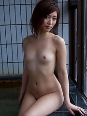 Hardcore and naughty Japanese av idol Rina Kato soaks her body wet and shows it off