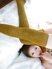 Sexy and horny Japanese av idol Miyu Sakurai shows her amazing naked body with twist