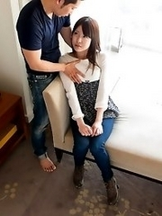 Beautiful and horny Japanese av idol Kokoha Suzuki shows off her sex skills