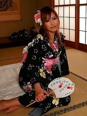 Eri Hoshikawa displays her boobs