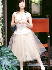 Nozomi Ando in stockings and ballerina dress is amazing