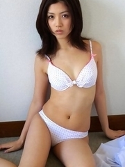 Azusa Togashi undresses uniform to show behind in panty