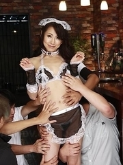 Asuka Tsukamoto undressed of sexy uniform