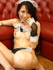 Hot Asuka Tsukamoto has trimmed pussy licked